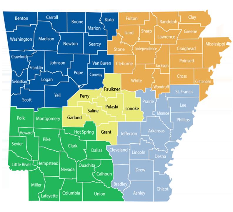 Health Units Map by Region
