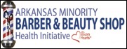 arkansas minority barber and beauty shop health initiative logo