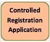 button/link to the controlled registration application