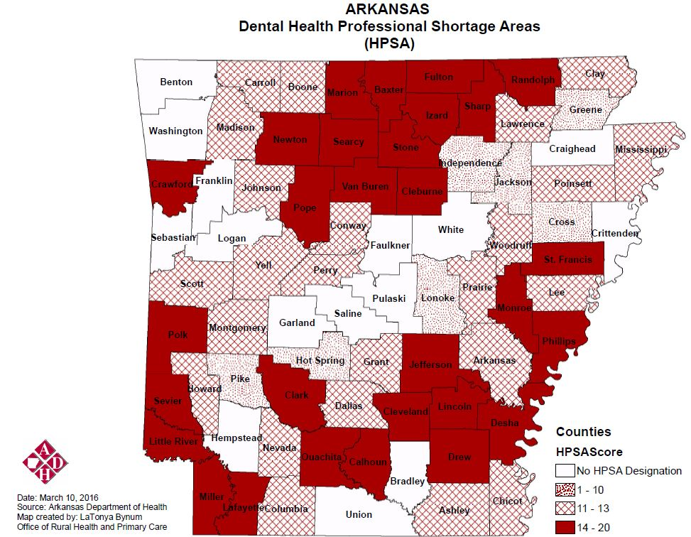 Dental Health Professional Shortage Areas