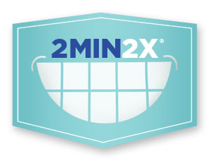 logo for Brush for two minutes twice a day