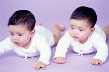 image of twin infants